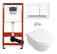 Инсталляция TECE с подвесным унитазом  Catalano Sfera Eco NewFlush + крышка Softclose, фото 1