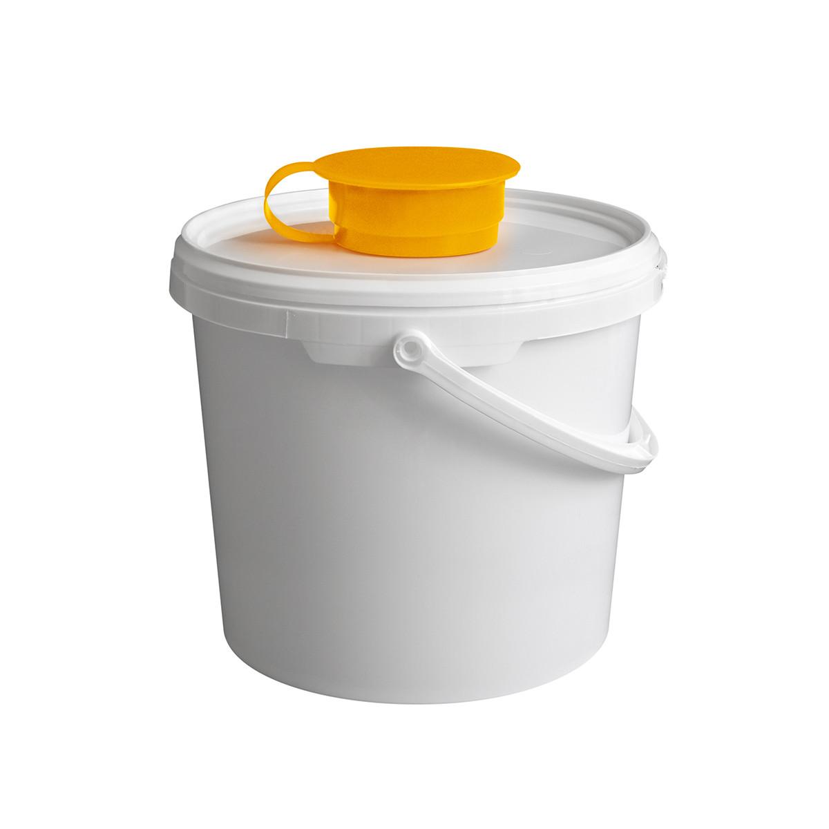 Ведро-диспенсер для дезинфицирующих салфеток TEMDEX 5.7 Для бумажных полотенец, салфеток, Желтый