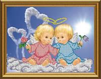 Схема для вишивки бісером Закохані ангелятка. Арт. СКМ-53