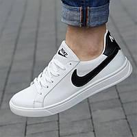 Кроссовки мужские NIKE кожаные белые ( код 9811 ) - кросівки чоловічі шкіряні білі найк