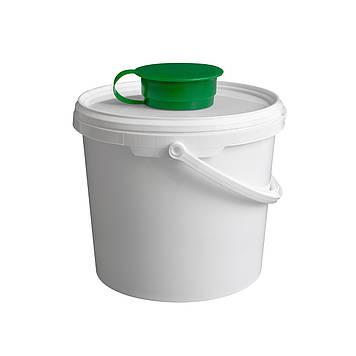 Ведро-диспенсер для дезинфицирующих салфеток TEMDEX 5.7 Для бумажных полотенец, салфеток, Зеленый