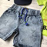 Летний джинсовый костюм на мальчика с кепкой 57. Размер 2 года, 4 года, фото 2