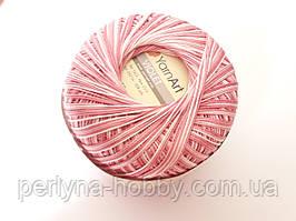 Пряжа нитки для вязания хлопковые   Виолет ЯрнартViolet YarnArt 100% меланж рожевий № 5338