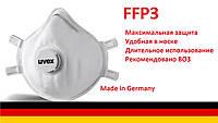 Противовирусный респиратор UVEX 2310 FFP3.Пр-во Германия, фото 1