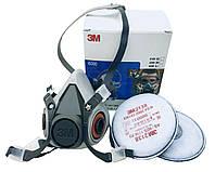 Респиратор полумаска 3М 6200 (серия 6000) укомплектованная фильтром 2138 FFP3