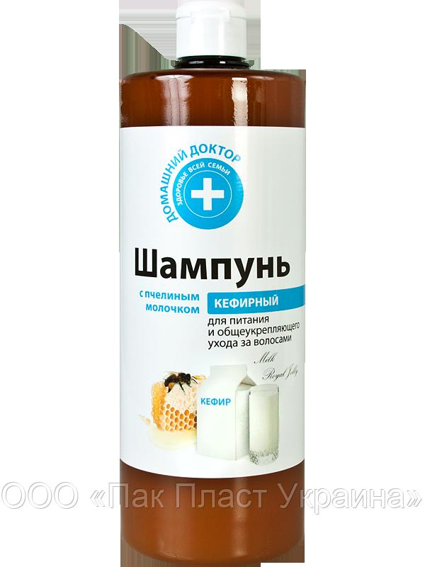 Шампунь Домашний Доктор 1л. Кефирный с пчелиным молочком для укрепления волос
