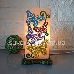 Соляной светильник Бабочки 1 цветной