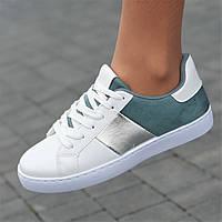 Женские кроссовки белые модные  ( код 6621 ), фото 1
