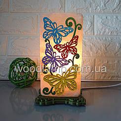 Соляна лампа Метелики 1 кольорова