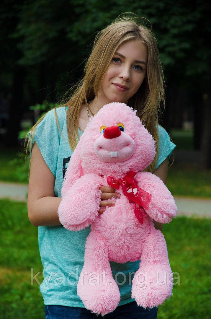 Плюшевий кролик чакки 60 см рожевий