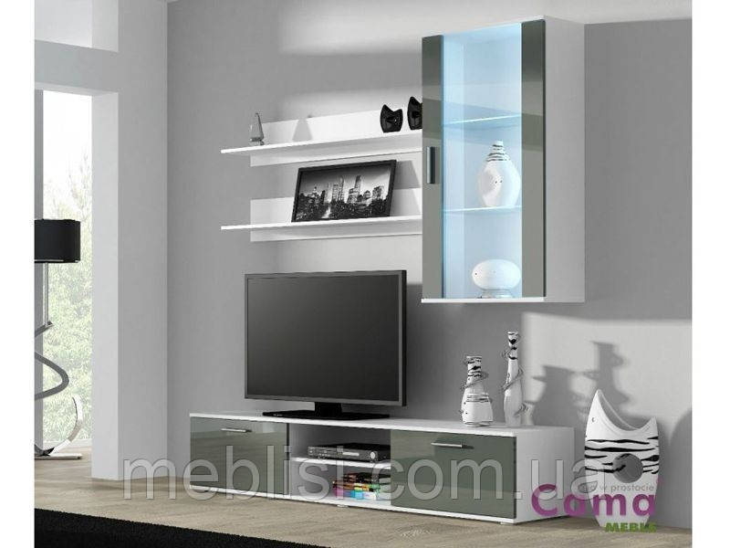 Гостиная SOHO 5 белый/серый (модульная мебель) (Cama)