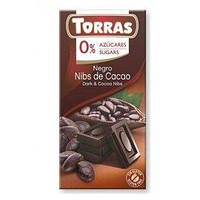 """Черный шоколад Negro Nibs De Cacao """"Torras"""", 75 г"""