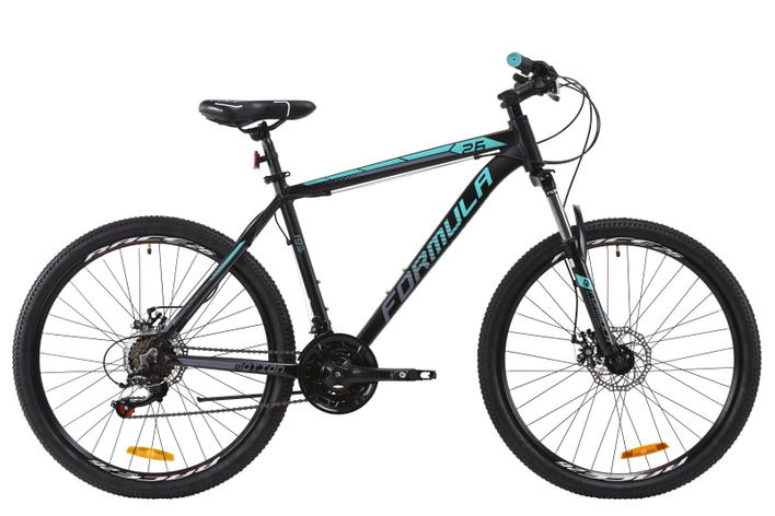 """Велосипед горный алюминиевый 26"""" Formula Motion AM DD 2020 рама 16""""  черно-бирюзовый, фото 2"""