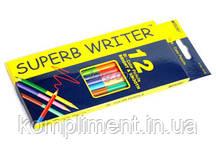 Олівці кольорові двосторонні дерев'яні Marco Super writer,