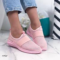 Женские кроссовки из текстиля Pink, фото 1