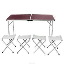 Стіл складаний 4 стільці для пікніка, дачі, кемпінгу, складаний столик, похідної styleberg 6001