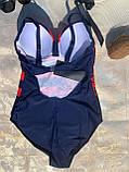 Слитный женский купальник  48xl-5 5xl, фото 4