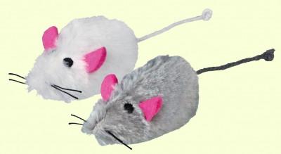 Игрушка для котов и котят мышка-пищалка меховая, Trixie, 9 см