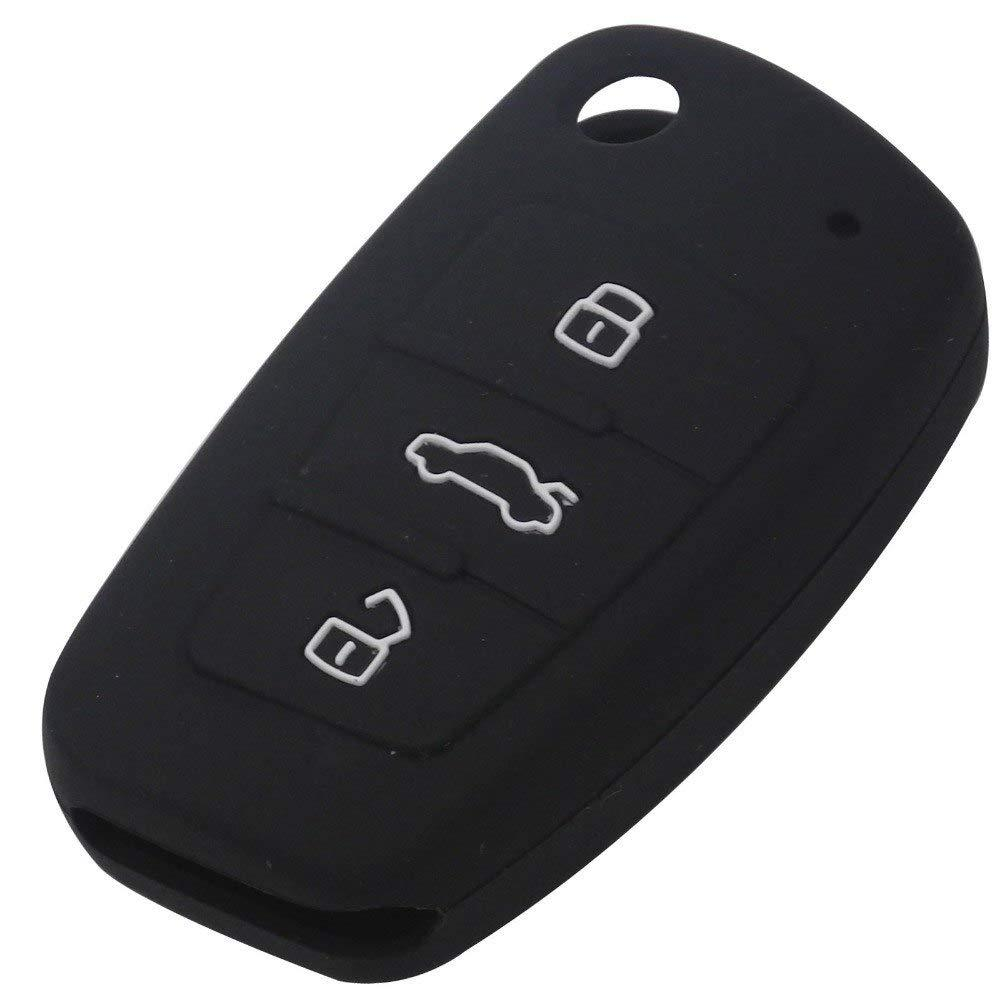 Силиконовый чехол New Generation для ключа Audi Черный (0000303)