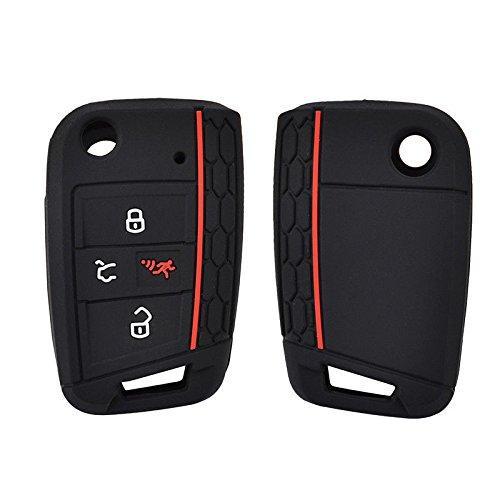 Силиконовый чехол New Generation для ключа Volkswagen/Seat Черный (0000030)