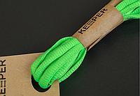 Шнурки Keeper спортивні об'ємні (в упаковці) 120, Салатовий
