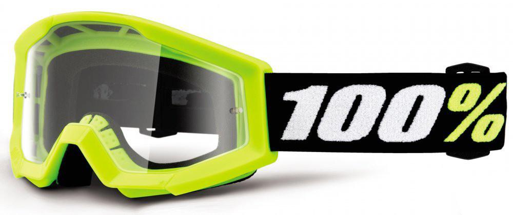 Мотоочки детские 100% STRATA MINI Goggle Yellow - Clear Lens