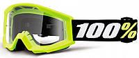 Мотоочки детские 100% STRATA MINI Goggle Yellow - Clear Lens, фото 1