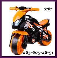 Беговел Технок 5767 Мотоцикл Детский 6 ЦВЕТОВ Байк Самокат Толокар  Каталка велобег