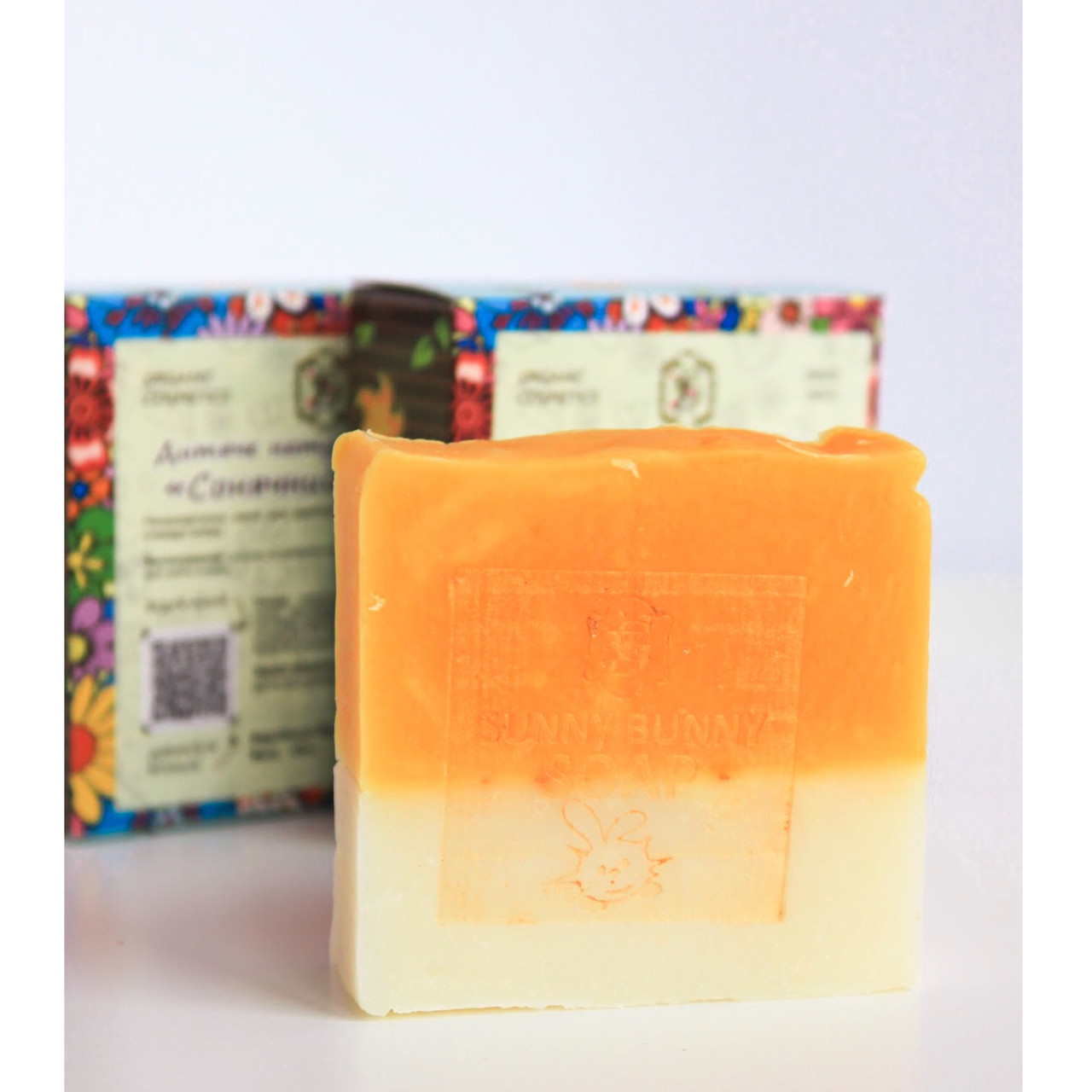 Детское натуральное мыло ручной работы Солнечный зайчик от GZ 500 г(5 шт по 100 г) - семейная упаковка