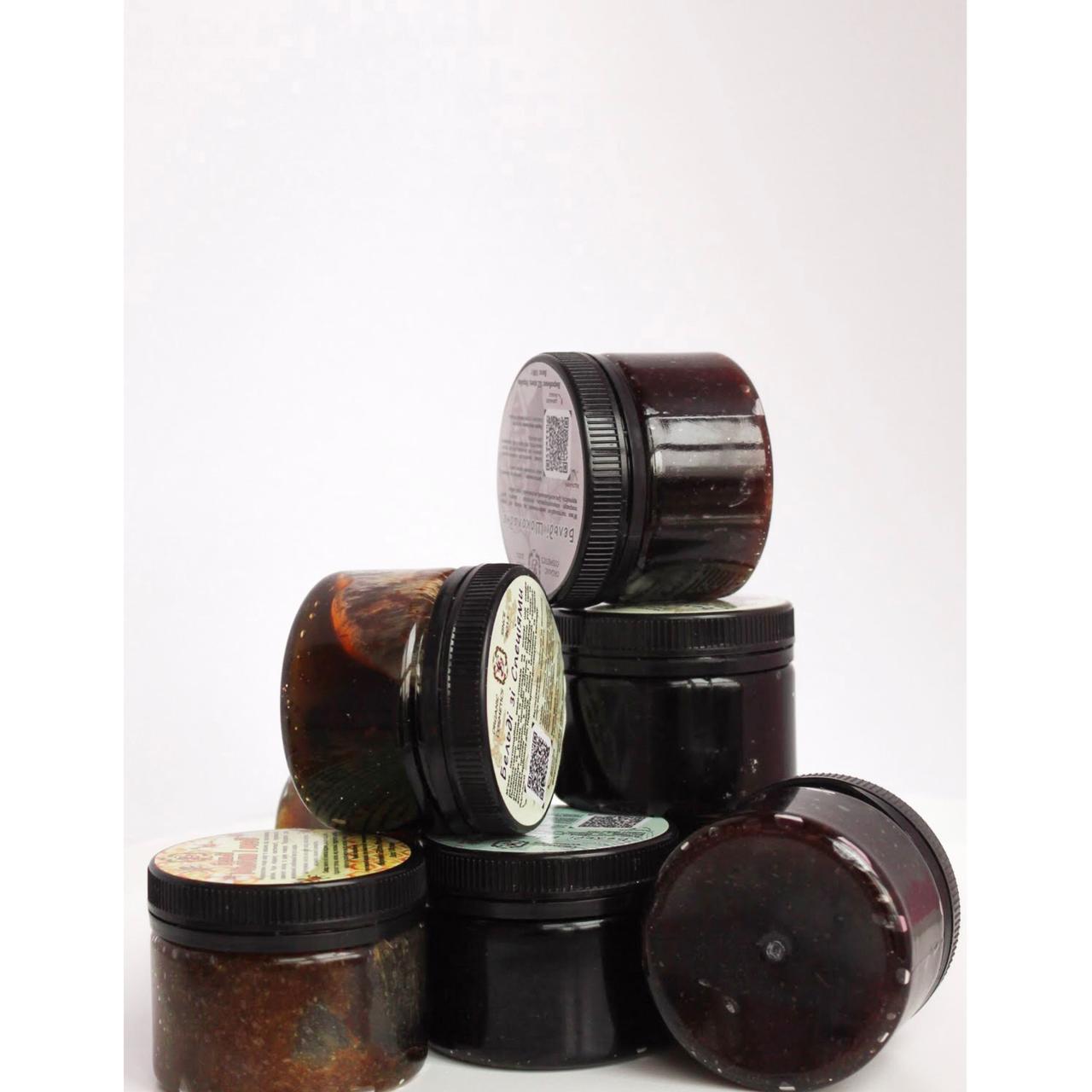Гоммаж -пилинг-маска из оливкового масла для глубокого очищения и от Целлюлита - Специи 250 г
