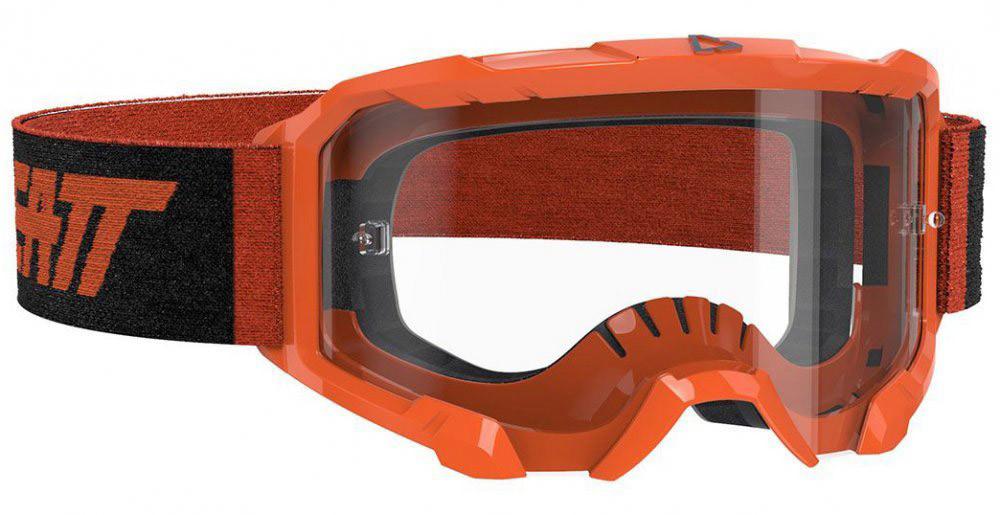 Окуляри кросові LEATT Velocity 4.5 Neon Orange Clear 83%