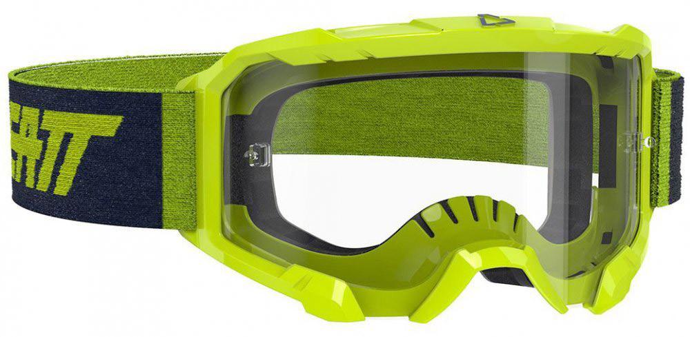 Окуляри кросові LEATT Velocity 4.5 Neon Lime Clear 83%