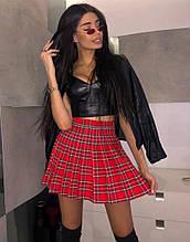 Женская юбка, французский трикотаж, р-р 42-44; 44-46 (красный)