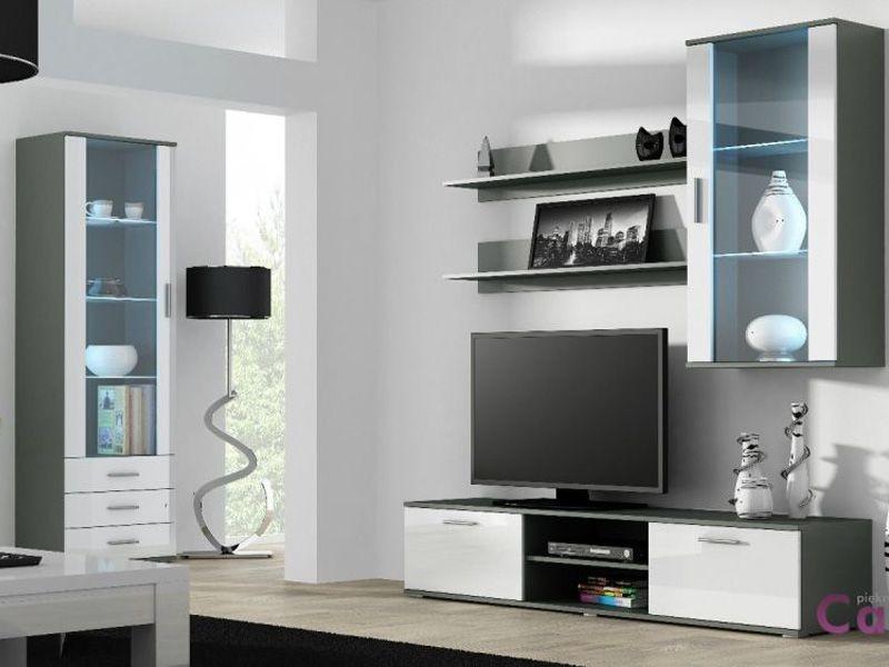 Гостиная SOHO 6 серый/белый (модульная мебель) (Cama)