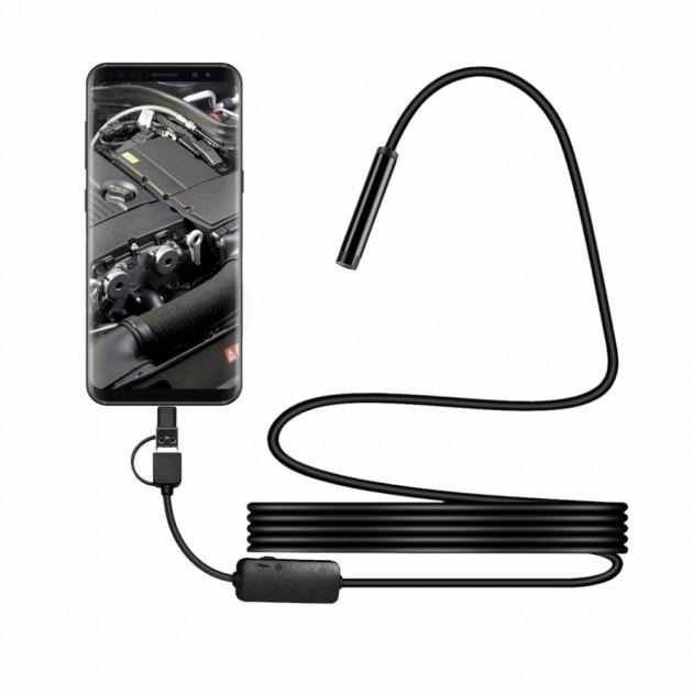 Цифровой эндоскоп камера ZCFUSB/micro USB 2м Черный (HbP87451)