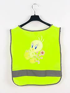 Светоотражающий жилет Safe & Fun 92-116 см Желтый (257791)