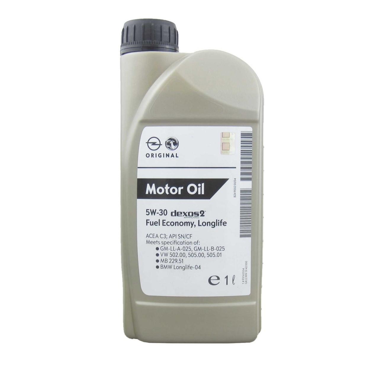 Моторное масло GM General Motors Dexos2 5W-30 1 л (1942000)
