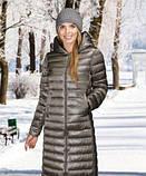 Женское пальто(пуховик) хаки, синий, фото 2