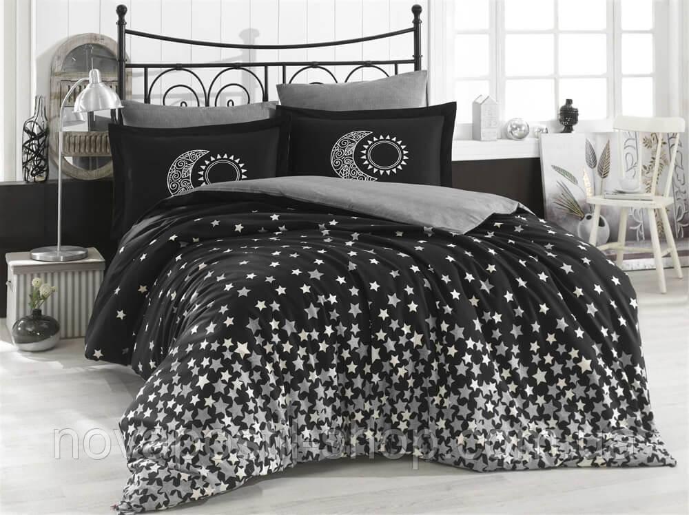 Постельное белье Hobby Poplin Stars Siyah