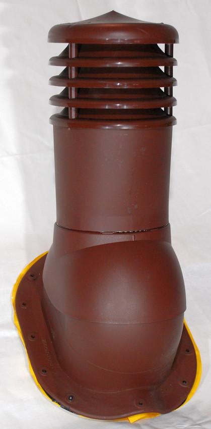 Вентиляционный выход Kronoplast KBW 150 мм для металлочерепицы высокий профиль волна до 30 мм с колпаком