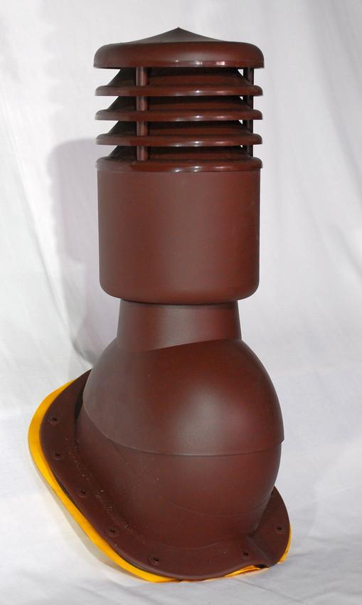 Вентиляционный выход утепленный Kronoplast KBXO для металлочерепицы высокий профиль волна до 45 мм с колпаком