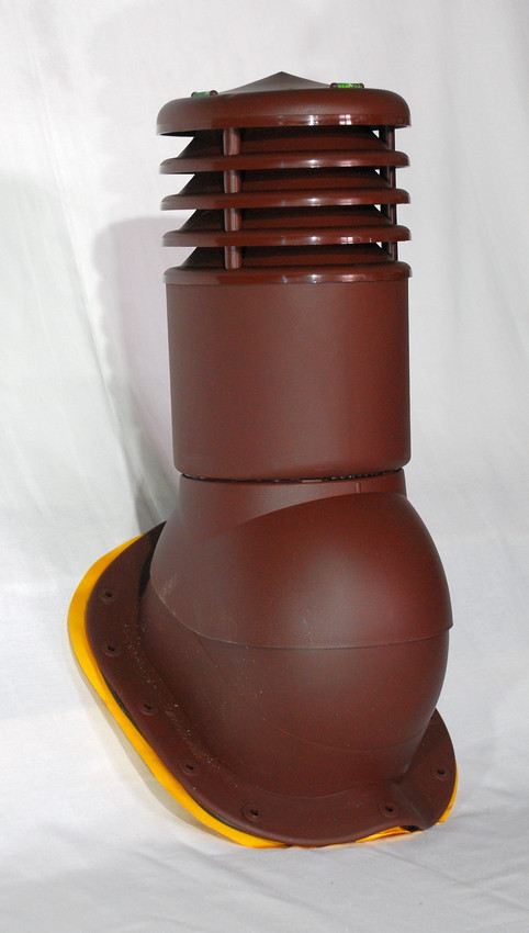 Вентиляционный выход утепленный Kronoplast KBWO 150мм для металлочерепицы средняя волна до 30 мм с колпаком