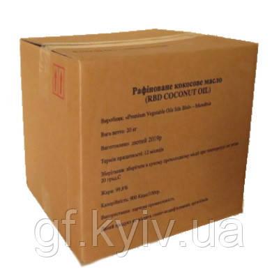 Кокосова олія 20кг. харчове рафіноване дезодороване (RBD) Малайзія для кулінарії або косметології