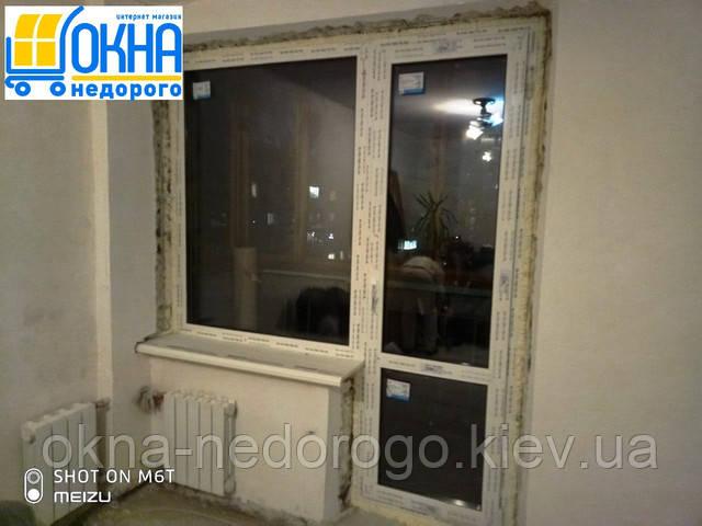 Балконний блок Rehau Київ пер. Металістів 1 фото бригади 14