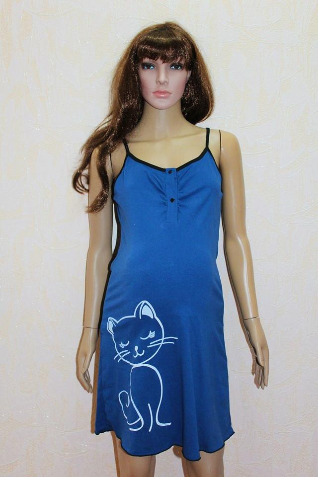 Женский комплект летний халат с ночной синий Микки Маус