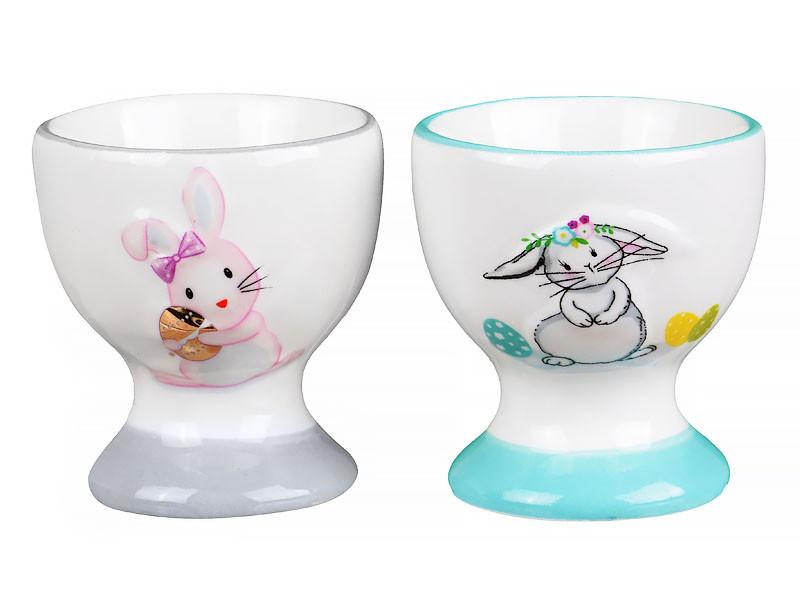 Набір підставок з 2-х шт яйця під Lefard Кролики 6 см 940-148 підставка тримач для яєць для яйця