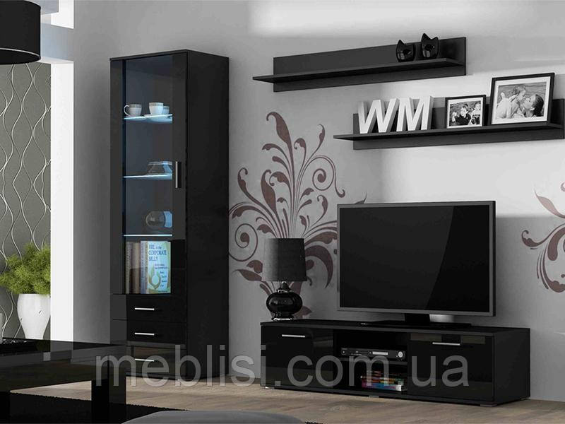Гостиная SOHO 7 черный (модульная мебель) (Cama)
