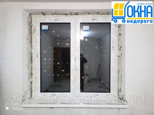 Двухстворчатое окно Rehau 70 Киев пер. Металлистов 1 фото 14 бригады