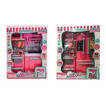 Мебель для куклы барби Кухня, звук, свет, посуда, 2 вида,66096
