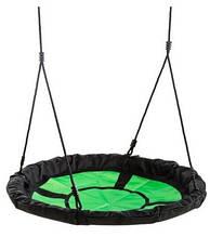 Качели EXIT круглые Гнездо аиста 98 см зелёно-чёрного цвета